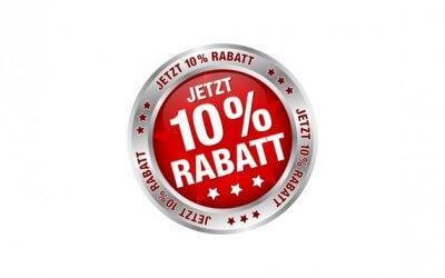 10% Rabatt bis zum 30.04.2016